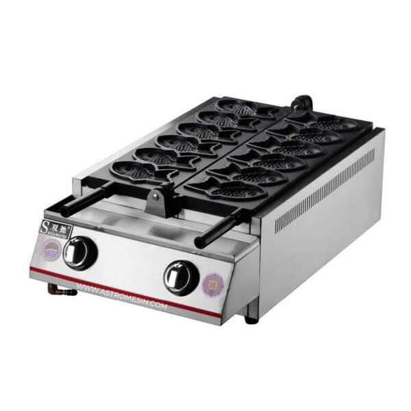 Mesin Cetakan Kue Waffle Bentuk Ikan GETRA