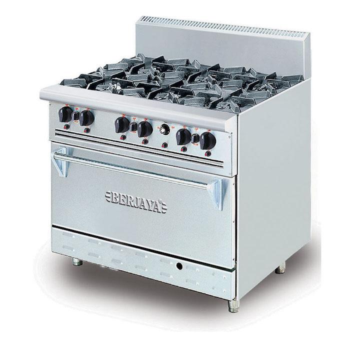 BERJAYA Deluxe Range Oven With Open Burner DRO6L