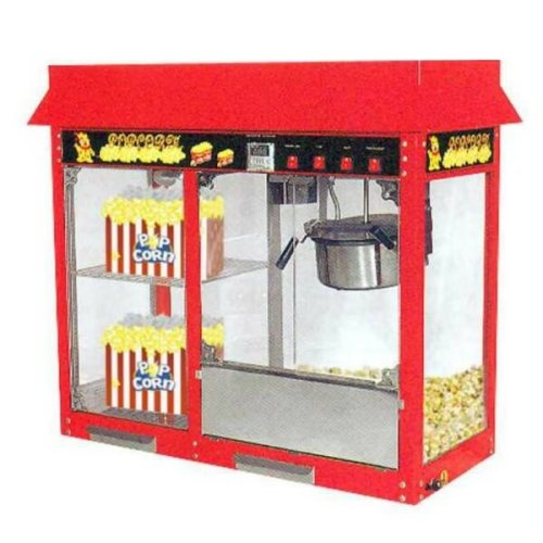 Mesin Popcorn Dengan Showcase Penghangat GETRA