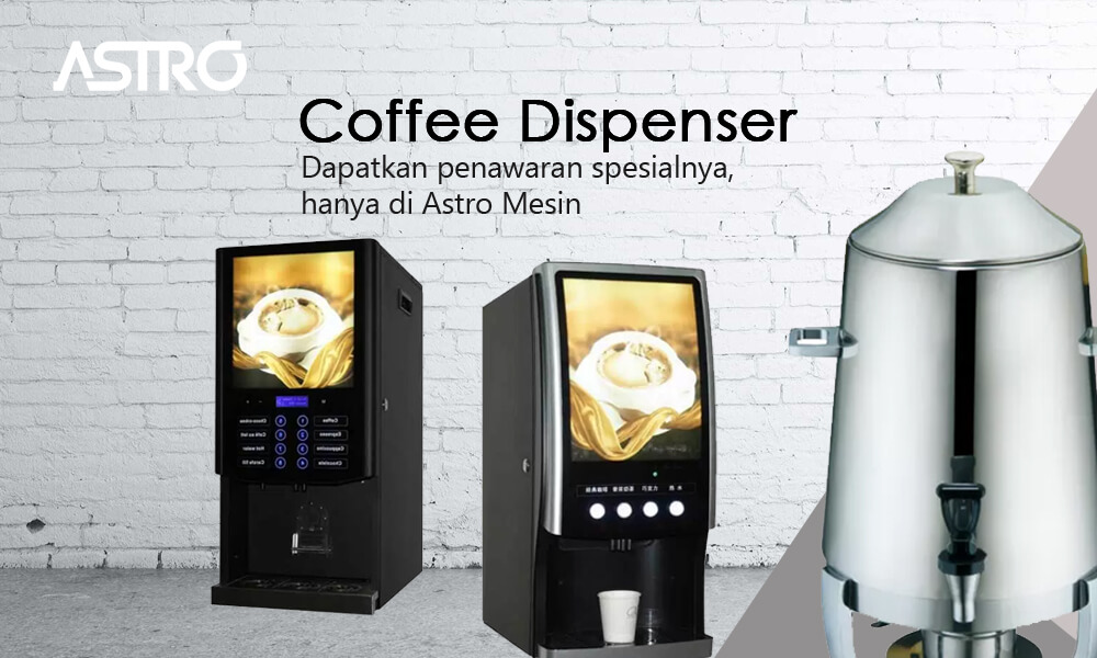 Banner Mesin Coffee Dispenser