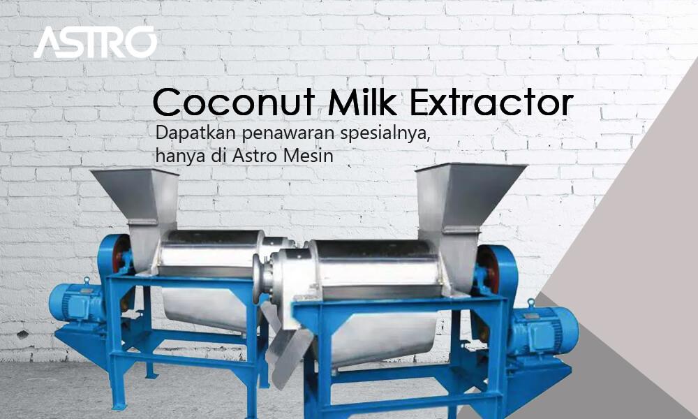 Banner Mesin Coconut Milk Extractor - Mesin Peras Santan