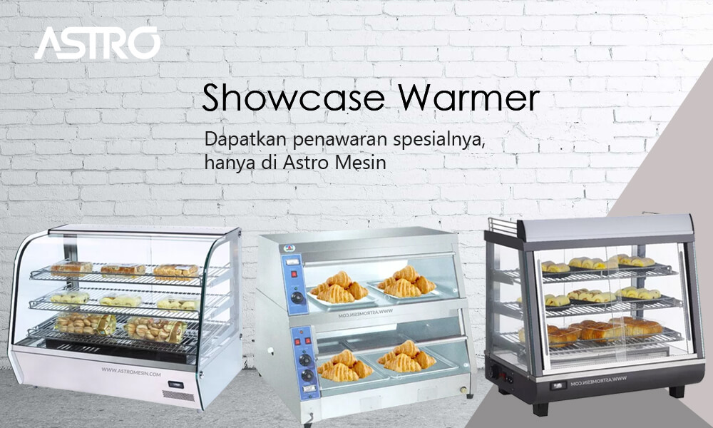Banner Mesin Showcase Display Warmer