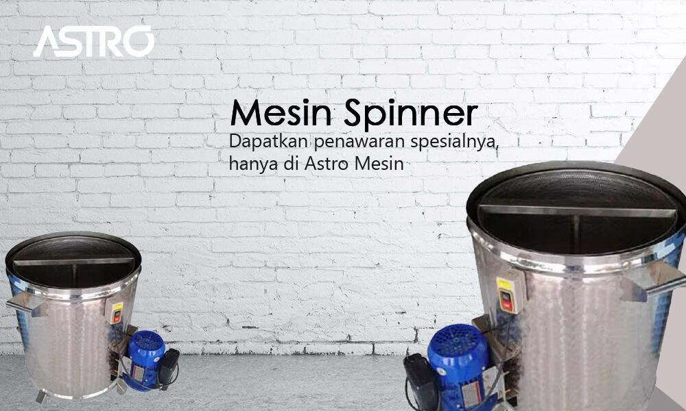Banner Mesin Spinner Peniris Minyak
