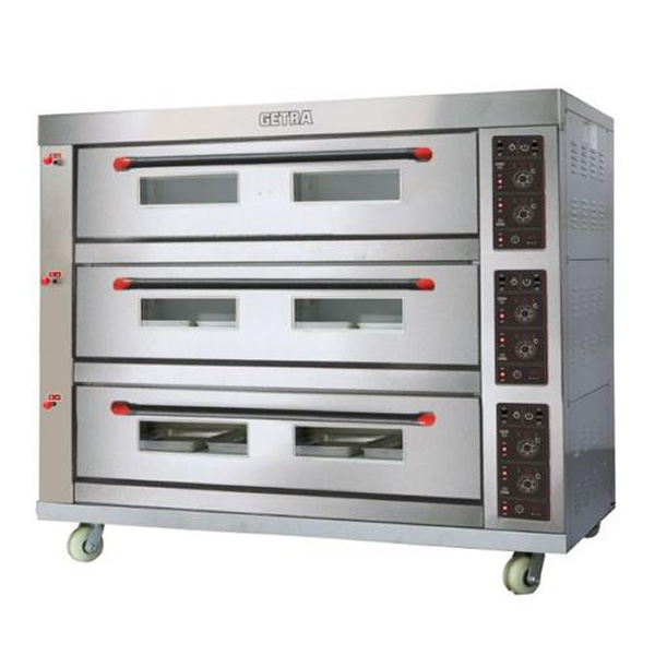 Oven Gas Getra 3 Deck 9 Tray RFL 39SS