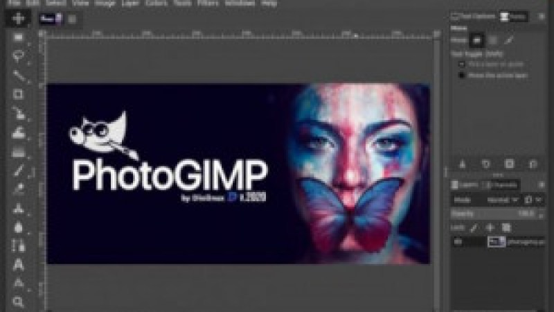 Photo Gimp install via snap