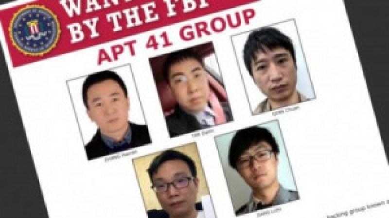 FBI adiciona 5 hackers APT41 chineses à lista dos mais procurados do Cyber