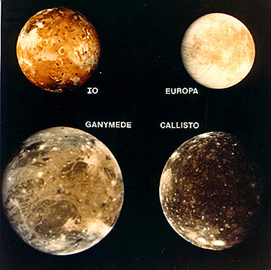 Main Moons Jupiter