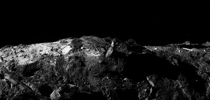 Daerah Bes pada komet 67P/Churyumov-Gerasimenko. Kredit: ESA/Rosetta/MPS for OSIRIS Team MPS/UPD/LAM/IAA/SSO/INTA/UPM/DASP/IDA – CC BY SA 4.0; Acknowledgement: S Atkinson.