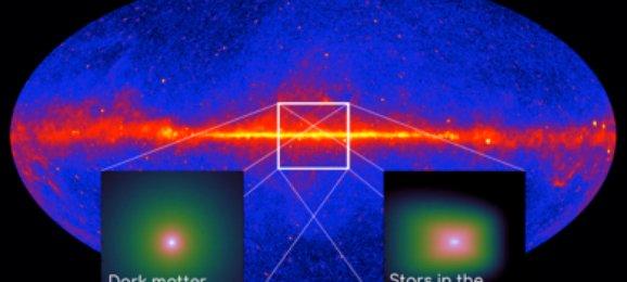 Pancaran sinar gamma pada piringan galaksi. Kredit: Astronomie.nl