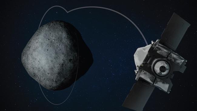 OSIRIS-REx mencapai jarak terdekat untuk mengorbit Bennu. Kredit: NASA