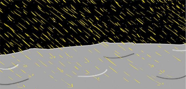Angin matahari yang menghujani Bulan. Kredit: NASA