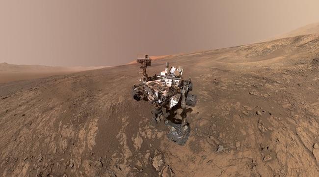 Swafoto ala Curiosity. Kredit: NASA