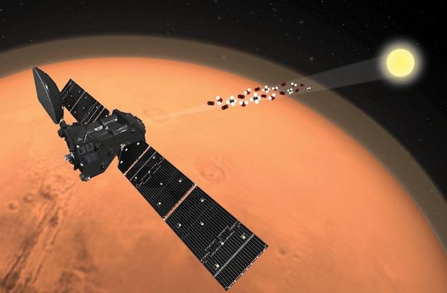 Ilustrasi TGO di Mars. Kredit: ESA/ATG medialab