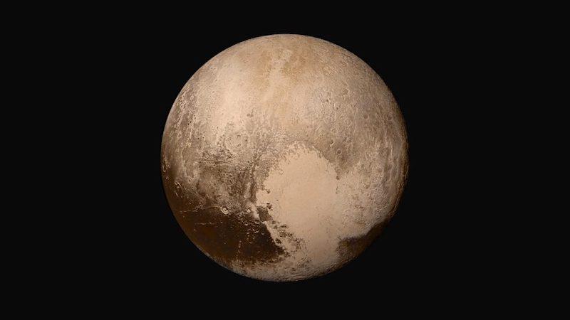 Pluto seperti yang dipotret New Horizons. Kredit: NASA