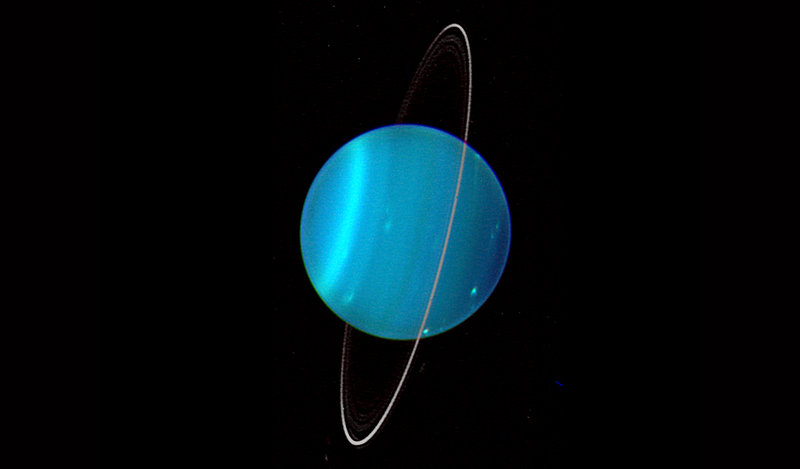 Planet Uranus. Kredit: Lawrence Sromovsky, University of Wisconsin-Madison/W.W. Keck Observatory/NASA