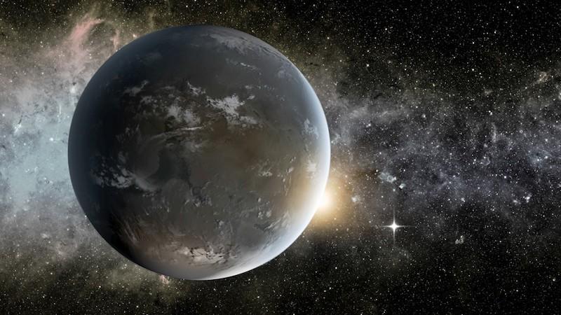 Ilustrasi planet Bumi Super Kepler-62f. Kredit: NASA Ames/JPL-Caltech