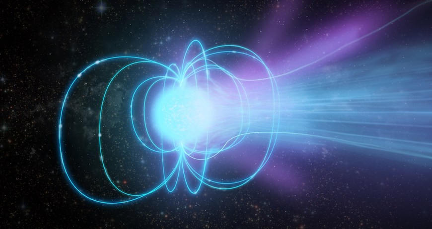 Ilustrasi magnetar. Kredit: Sophia Dagnello, NRAO/AUI/NSF