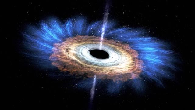 disque accrétion d'un trou noir