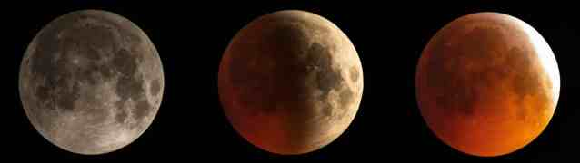 Évolution de l'éclipse de Lune