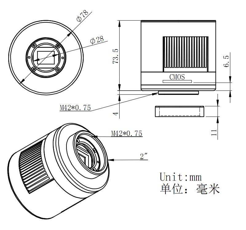 NEW ZWO ASI 1600MC-Cool Camera
