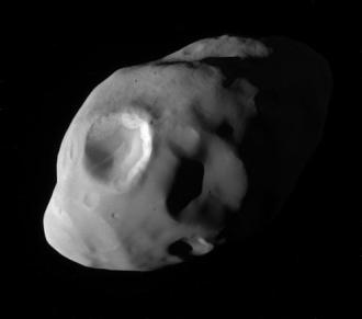 Saturn's moon Pandora. Click to read more.