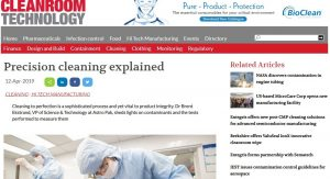 Astro Pak Featured on Cleanroom Technology