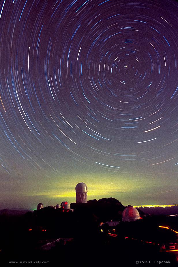 Polar Star Trails Above Kitt Peak National Observatory