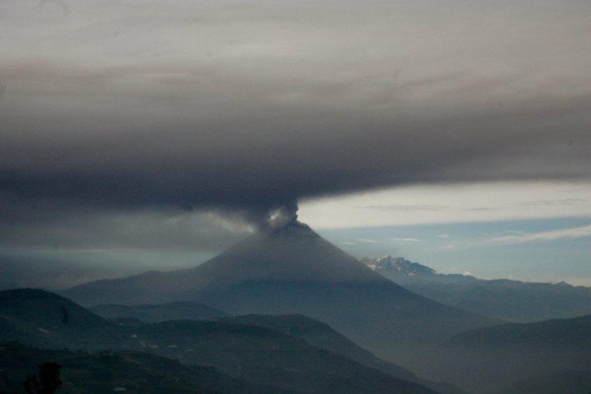 Vulcão Tungurahua. Crédito: Reuters.