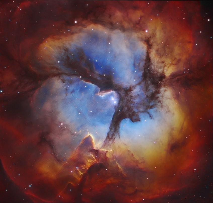 Crédito: Subaru Telescope (NAOJ), Hubble Space Telescope, Martin Pugh; Robert Gendler