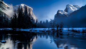 Water hoort bij de winter in de vier elementen