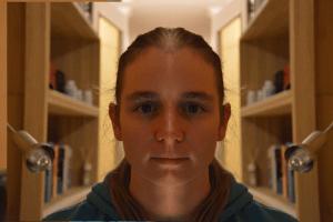 Privé gezicht toont veel aarde met gezichten lezen