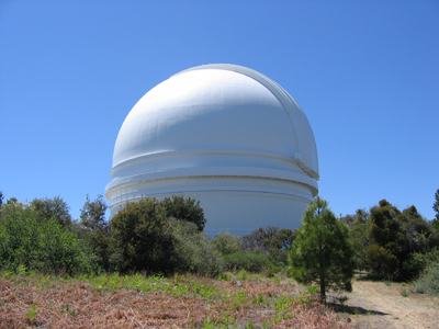 The telescope dome at Palomar