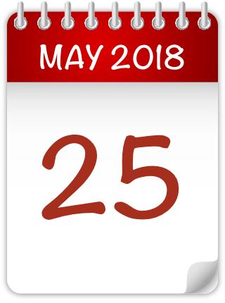 25 may calendar