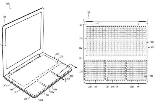 Apple patent's a to Configurable Solid-State MacBook keyboard