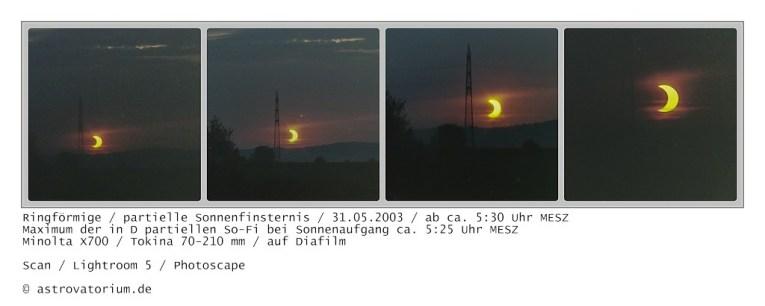 Verlauf 2 der partiellen Sonnenfinsternis