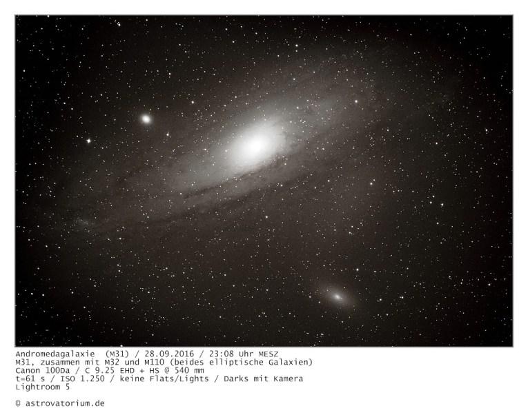 Andromedagalaxie (M 31) / 28.09.2016