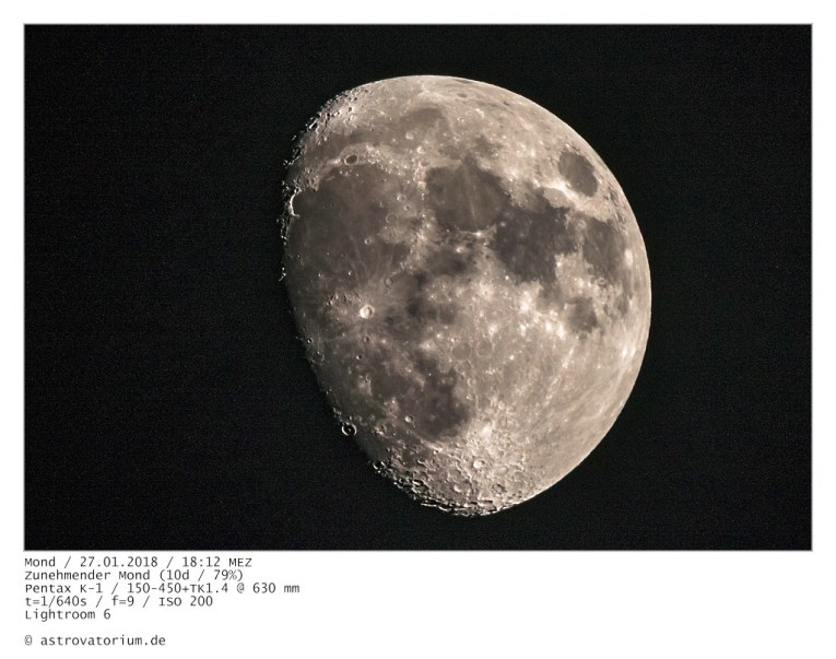 Zunehmender Mond (10d/79%)