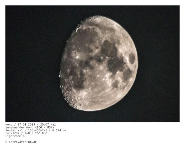 Zunehmender Mond (10d/80%)