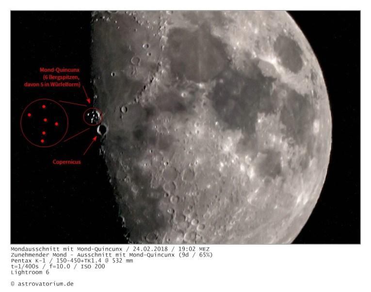 Zunehmender Mond / Mond-Quincunx
