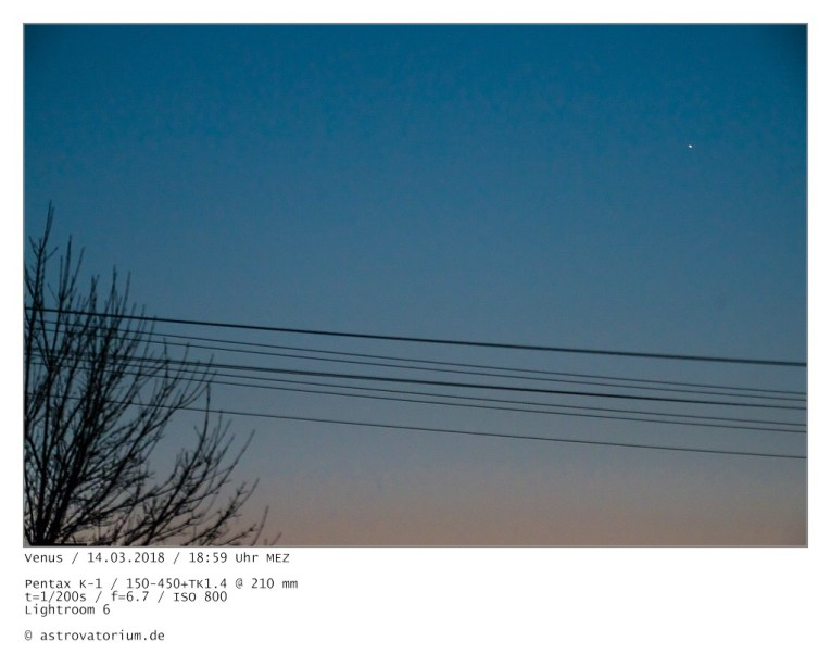 Venus als Abendstern