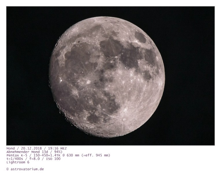 Abnehmender Mond 13d 94