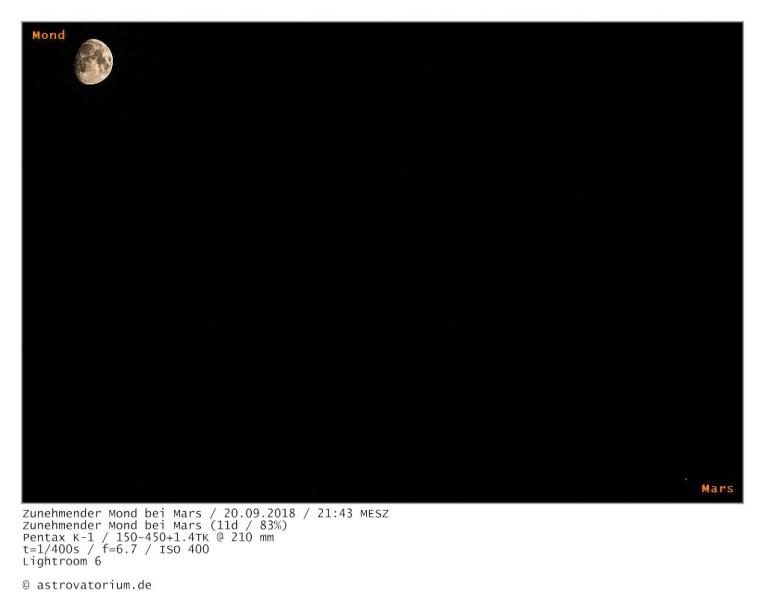 180920 Zunehmender Mond bei Mars 11d_83vH_beschriftet