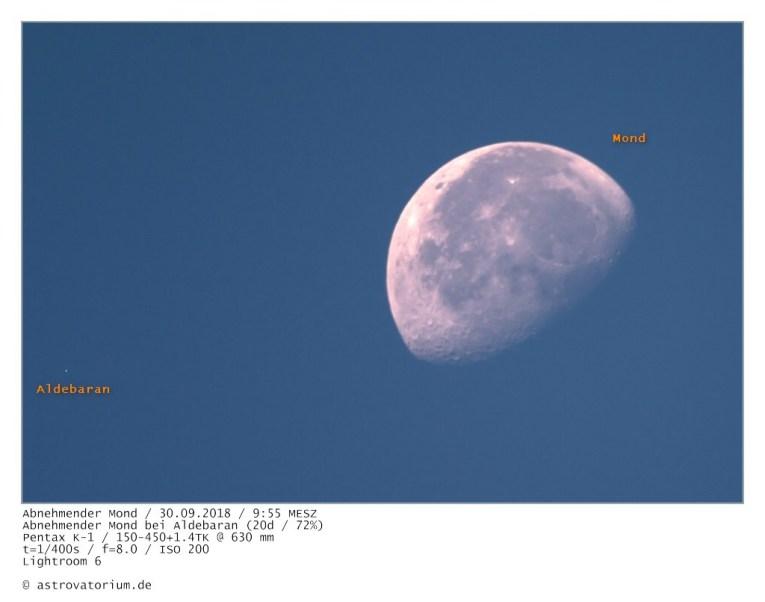 180930 Abnehmender Mond bei Aldebaran 20d_72vH_beschriftet