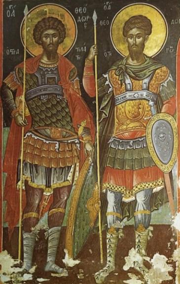 Sv.-vmchch.-Feodor-Stratilat-i-Feodor-Tiron.-Monastyir-Stavronik.-Gretsiya-Afon.-XVI-v.