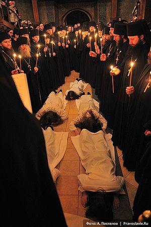 Монашеский постриг в Сретенском монастыре. Фото: А. Поспелов / Православие.Ru