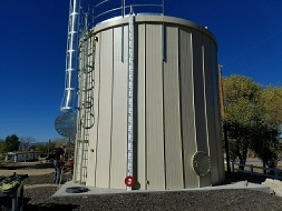 Fire protected storage tank