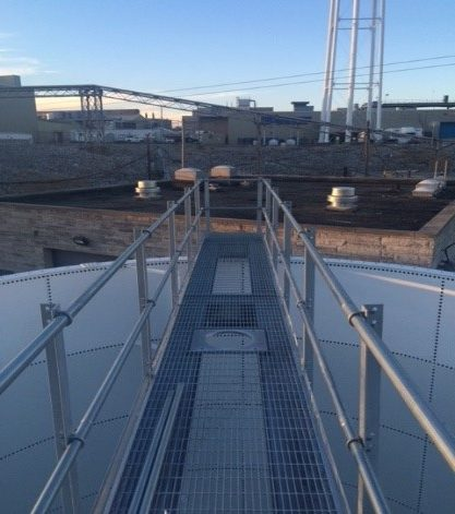 Leachate Storage Tank Walkway