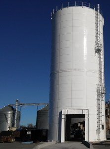 A sand storage silo offered through our company