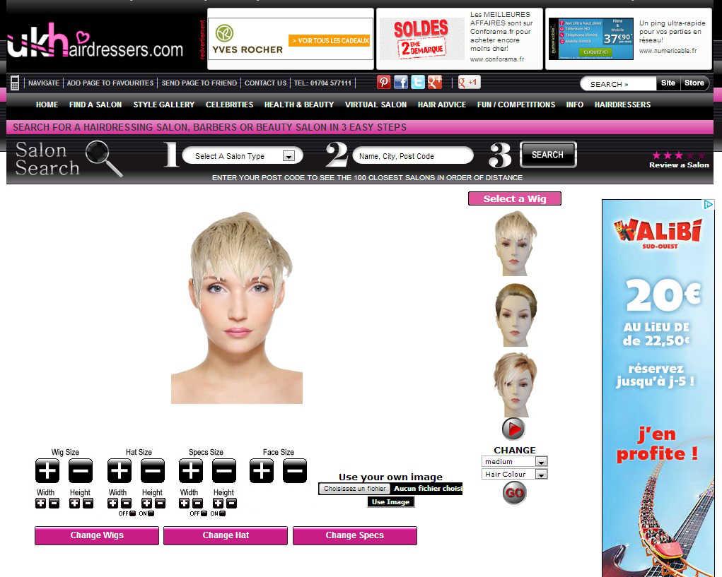 changer de coupe et de couleur de cheveux en ligne  site gratuit