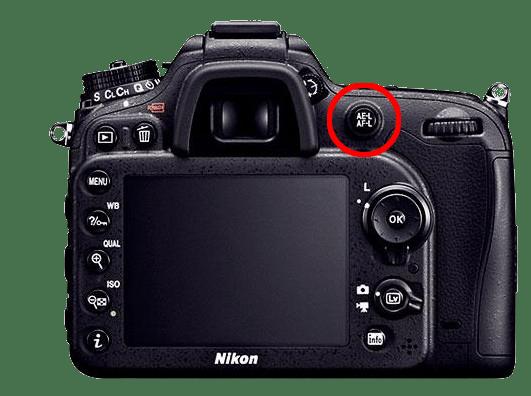 Nikon D7100 Bouton AE-L / AF-L